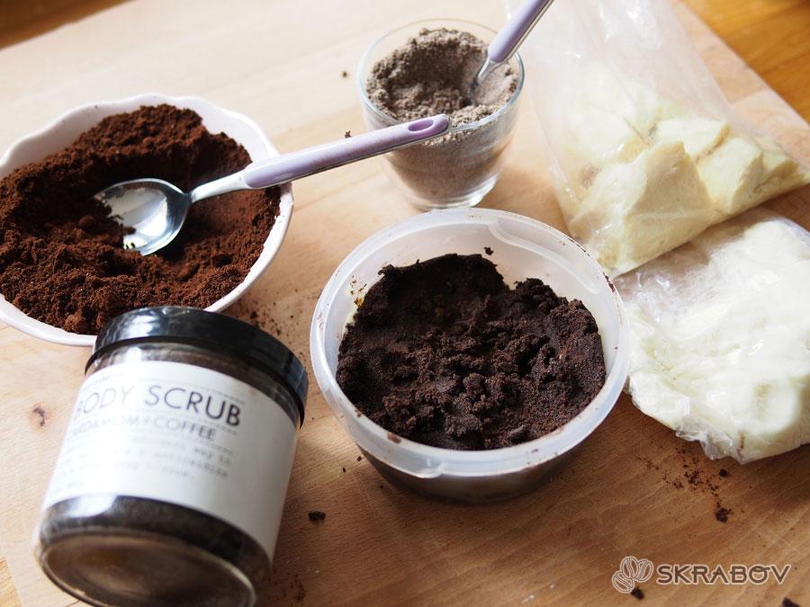 Скраб из кофе в домашних условиях: простые рецепты 2-3