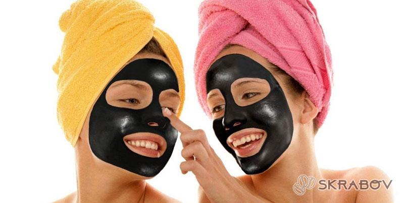 Черная маска для лица дома своими руками 11-7