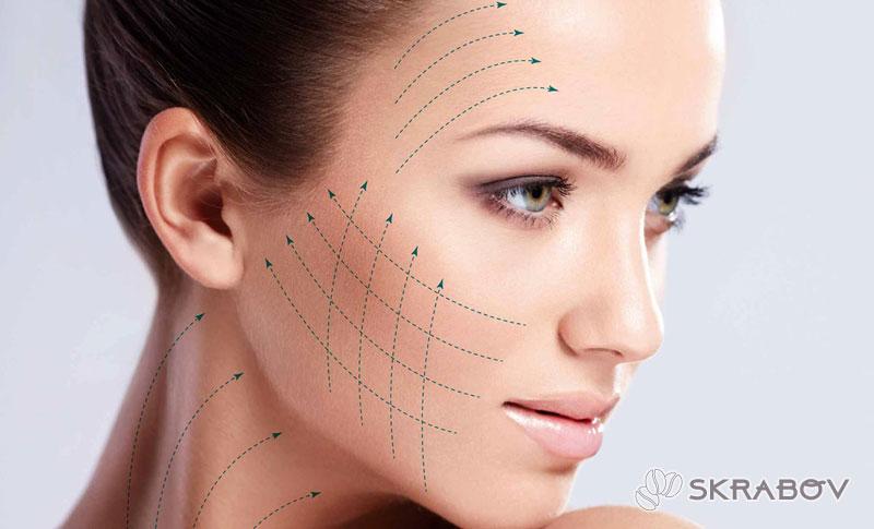 Желатиновые маски для лица с подтягивающим эффектом от морщин 45-5